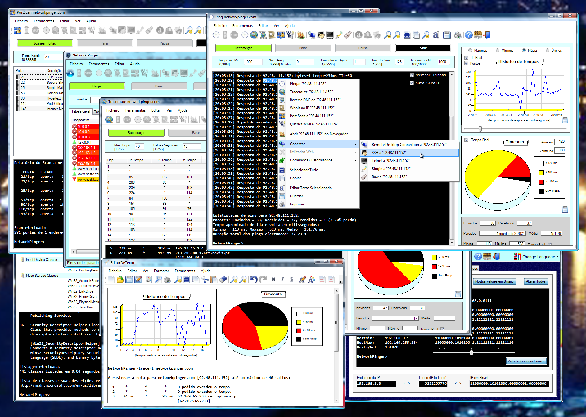 Network Pinger Mass Pinger And Network Analysis Tool Freeware - Graphical network mapping tool